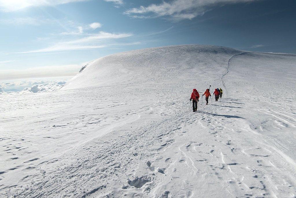 Mont Blanc Seilschaften Dome Du Gouter / Foto: (c) Julian Rohn