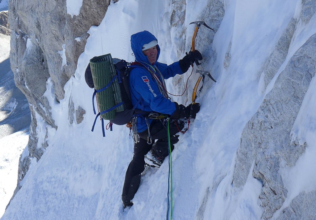 Mick Fowler on day three of his climb of Gave Ding / photo credit Berghaus